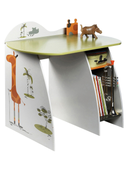 Bureau enfant jungle for Bureau enfant vert baudet
