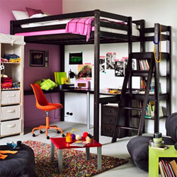 lit en hauteur une solution gain de place. Black Bedroom Furniture Sets. Home Design Ideas